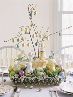 Easter Crafts Candy Tree Sweet Treats Colorful Basket