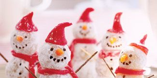 Christmas snowman dessert