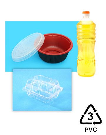 recycling symbols number 3 for plastics, vinyl or pvc plastic