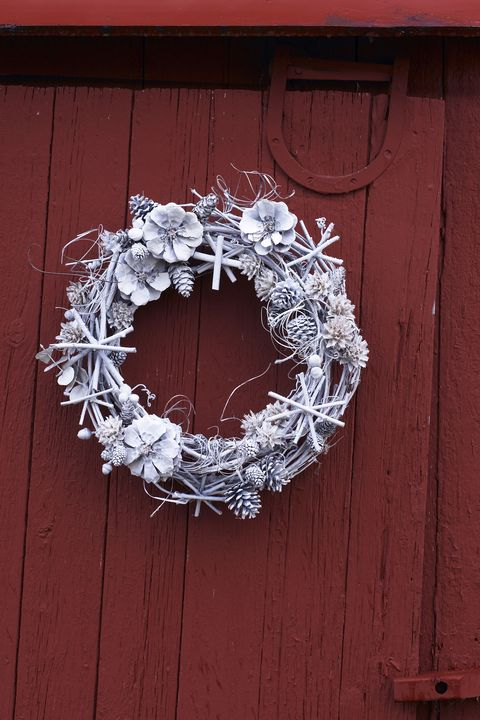 Christmas Door Decorations - White Christmas Wreath