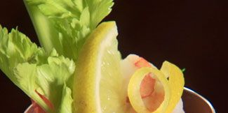 Food, Drink, Ingredient, Tableware, Liquid, Leaf vegetable, Lemon, Classic cocktail, Citrus, Produce,