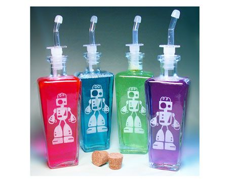 Reycled Glass Robot Containers