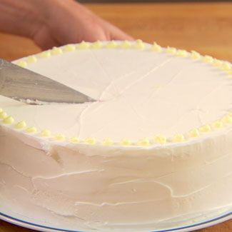 Before Cutting Any Cake Measure Out The Number Of Slices Youll Need To Do So Score First By Gently Marking With Knife Where Cut