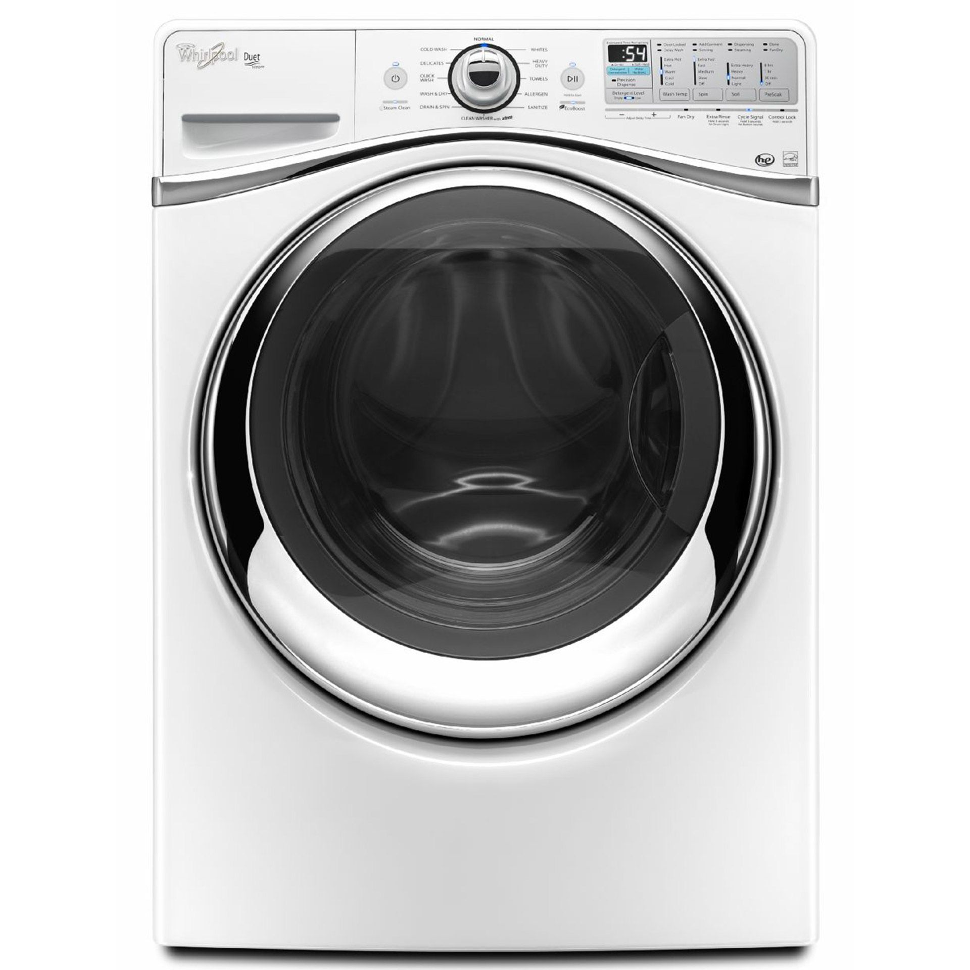 Whirlpool 4.3 cu. ft. Duet Steam Front Load Washer with Precision ...