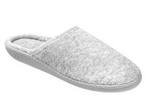 510f3f2e18a134 isotoner terry secret sole clog washable scuffs womens slippers