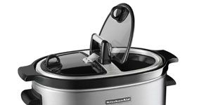 Kitchenaid 6 Quart Slow Cooker Ksc6222ss With Easy Serve Glass Lid