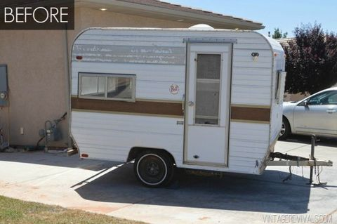 Vintage Camper Makeover - Cute Trailer Before and After