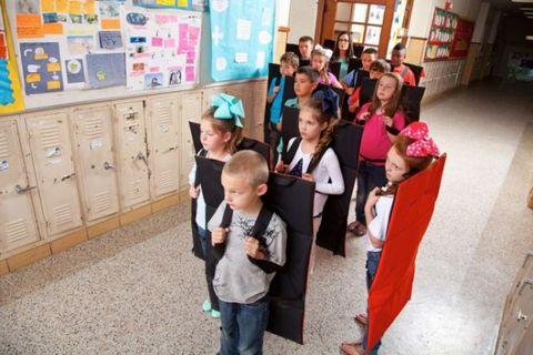 Child, Display board, Kindergarten, School, Academic institution,