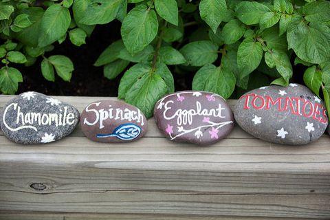 diy painted rock garden markers