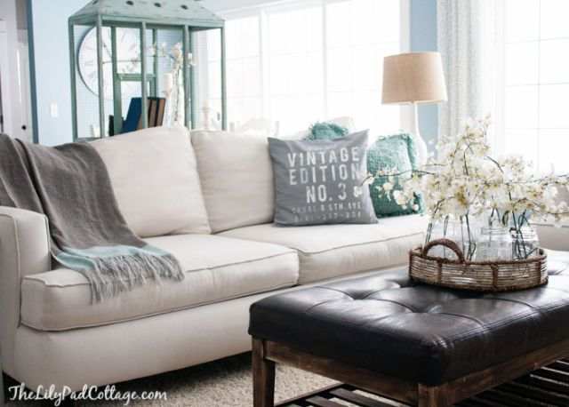 Style a White Sofa - How to Decorate a White Couch