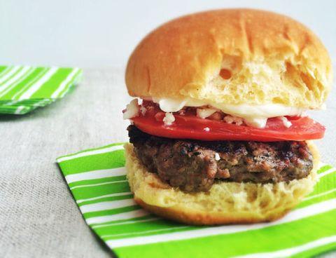 Food, Green, Finger food, Red, Sandwich, Cuisine, Baked goods, Ingredient, Bun, Fast food,