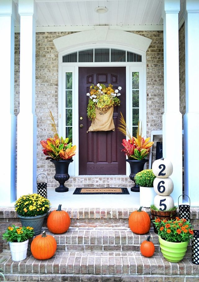 Front Entrance Fall Decorating Ideas from hips.hearstapps.com