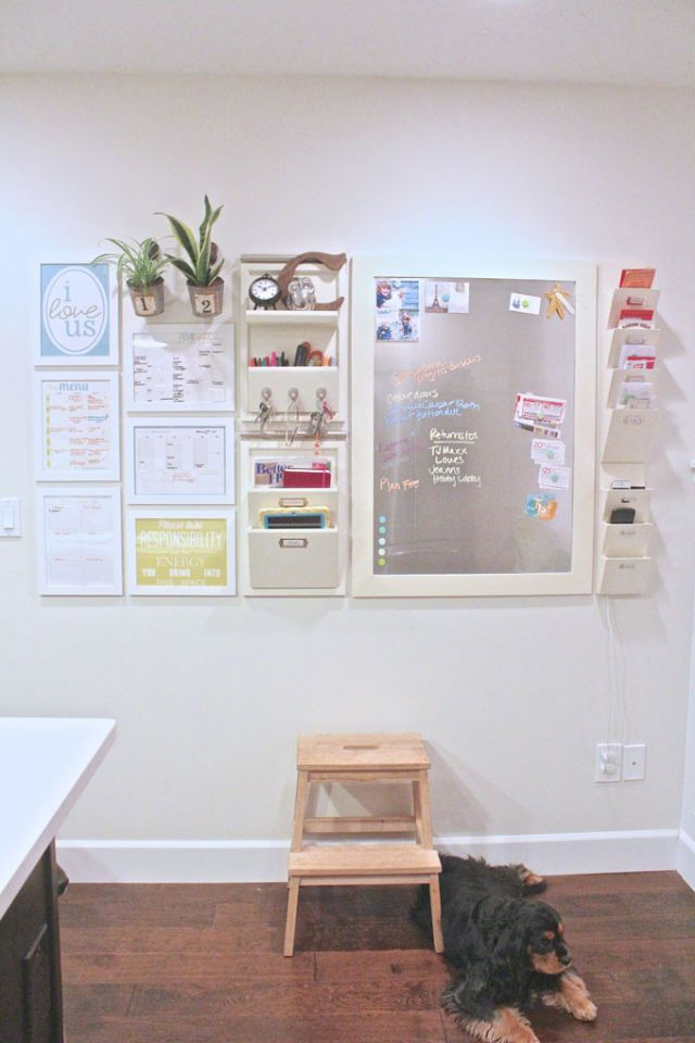 Home Office Wall organization Ideas