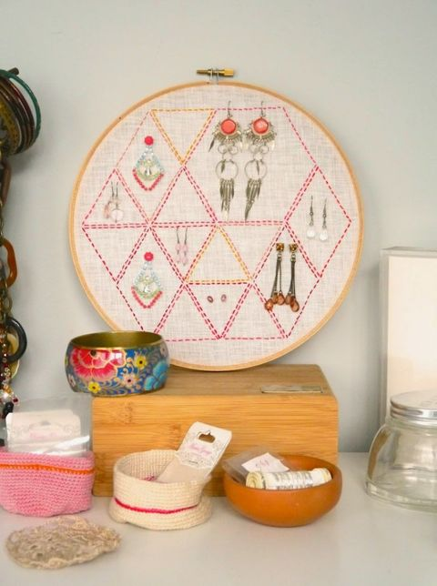 Home accessories, Creative arts, Interior design, Craft, Circle, Dishware, Serveware, Embroidery, Needlework, Patchwork,
