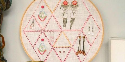 Home accessories, Creative arts, Interior design, Craft, Circle, Dishware, Serveware, Embroidery, Needlework, Patchwork,