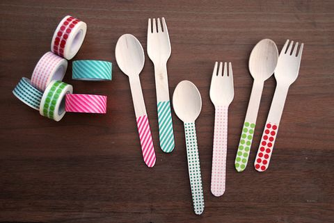 Summer Party Washi Tape Silverware