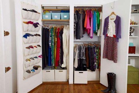 Room, Flooring, Closet, Shelving, Floor, Clothes hanger, Wood flooring, Shelf, Fashion, Laminate flooring,