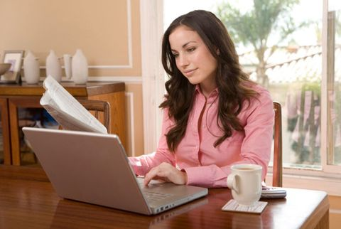 woman on laptop computer