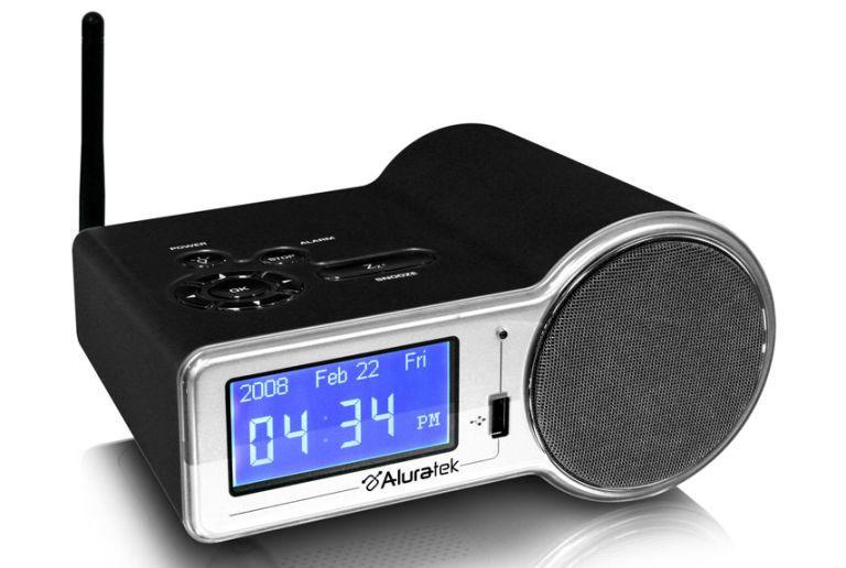 aluratek wifi internet radio alarm clock airmf01f