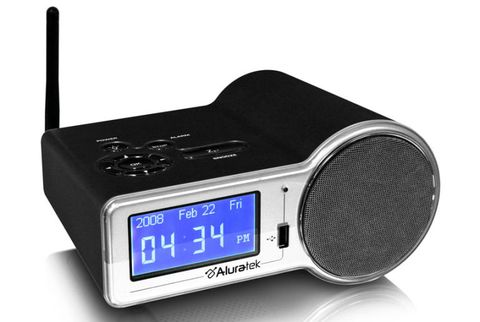 aluratek wifi internet radio alarm clock airmf01f
