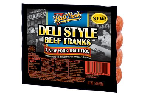 ball park deli style hot dogs