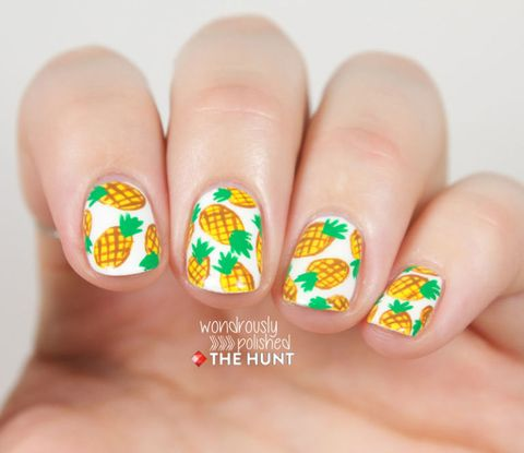 Manicure Month Day 2: Pineapple Nails