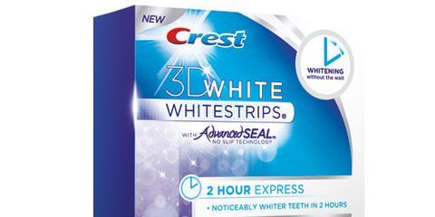 how to use crest 3d white strips 1 hour express