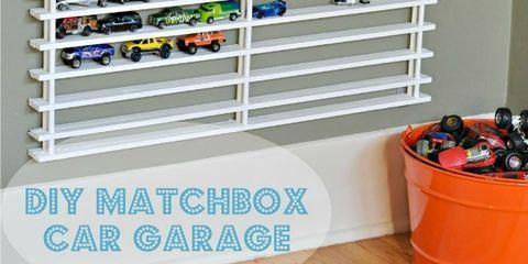 matchbox car shelf system  diy toy organizing ideas