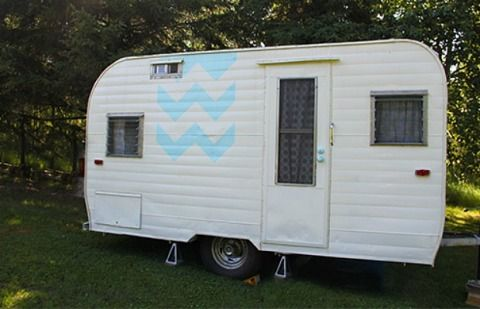 Cute Camper Makeover - Before and After Vintage Camping Trailer