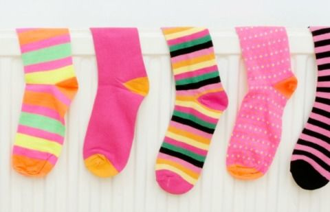 Product, Pink, Pattern, Baby & toddler clothing, Sock, Magenta, Orange, Polka dot, Pattern,