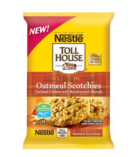 Nestle Toll House Oatmeal Scotchies Cookie Dough Review