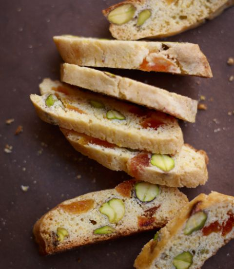 Apricot-and-Pistachio-Cornmeal-Biscotti-Recipe