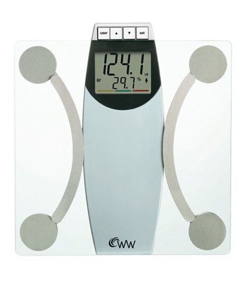 Most Accurate Bathroom Scale 2014: Weight Watchers By Conair WW67T Glass Body Analysis Scale