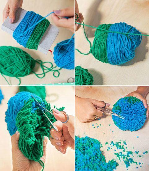 Pom Pom Gift Topper Instructions How To Make A Yarn Pom
