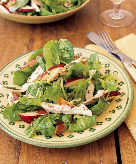 warm chicken salad with mustard thyme vinaigrette
