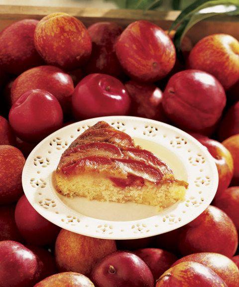 upside-down plum cake