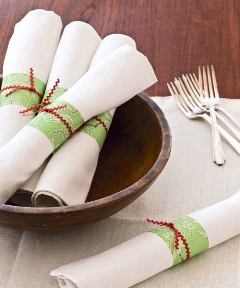 Homemade Holiday Napkin Rings Christmas Napkin Rings