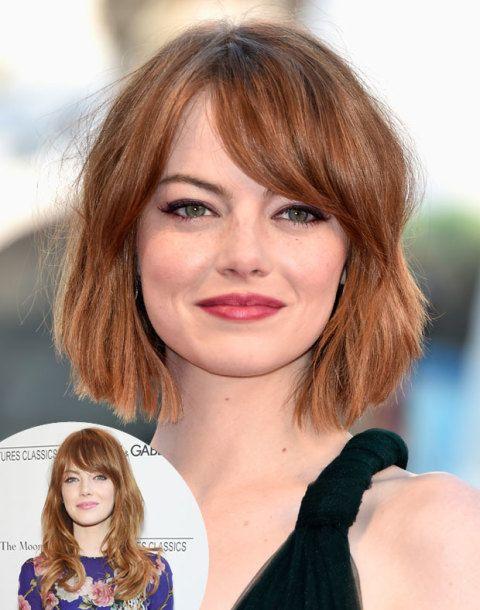 Emma Stone Cuts Her Hair Emma Stone Debuts A Short Cropped Bob