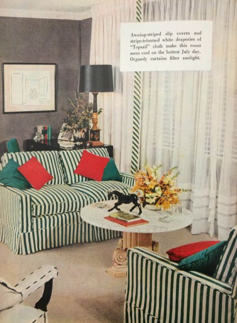 Image. June 1954. Weu0027re Seeing Stripes! These Midcentury Sofas Promise To  Bring Breezy Vibes To Even The Stuffiest Living Room.