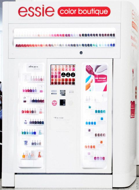 Nail Polish Vending Machines - Essie Launches Nail Polish Kiosks