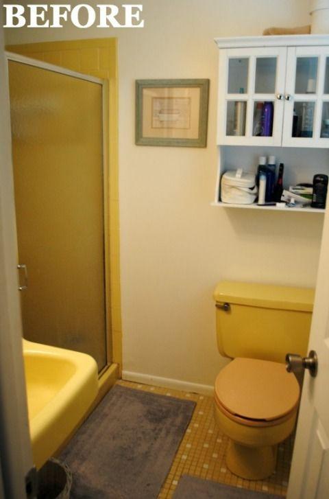 Simple Yellow Bathroom Design