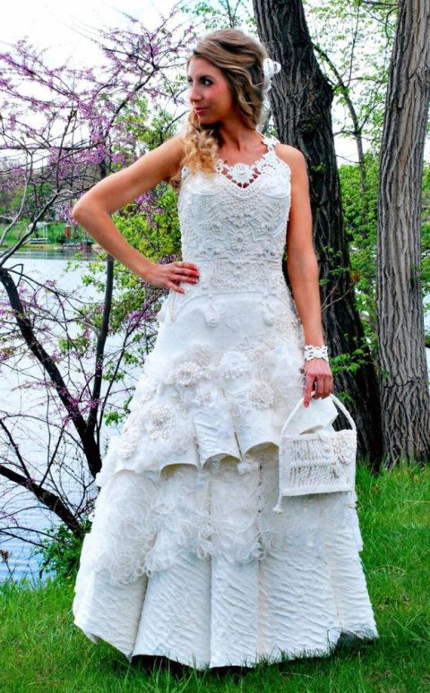 Toilet Paper Wedding Dress Competition Gorgeous Wedding Dresses