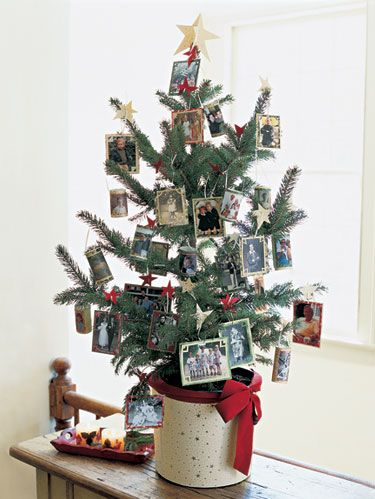 christmas tree photo ornaments - Easy Christmas Tree Decorations