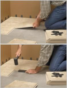 Cliks Floor Tiles No Motor Or Grout Required - Dal tile long island