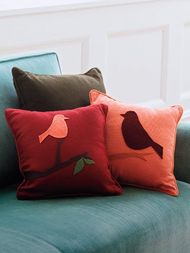 make your own bird pillows - home decor and crafts Make Your Own Throw Pillows