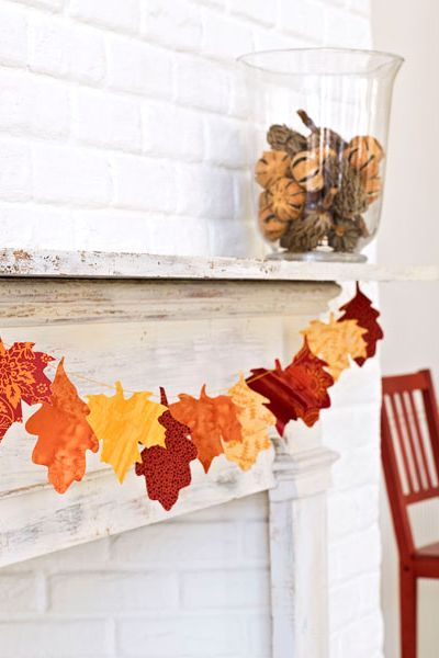 Fall Crafts Leaf Garland