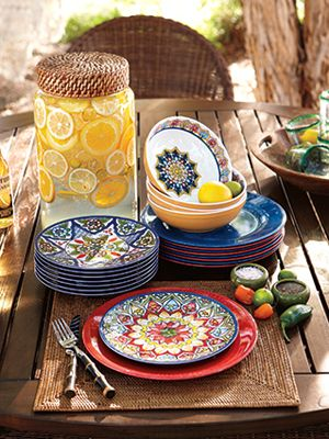 pottery barn talavera dinnerware & Break Resistant Dinnerware - Durable Dinnerware