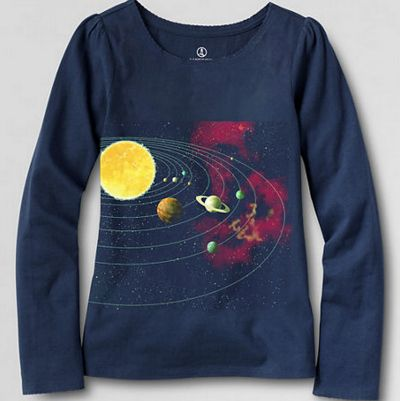 Lands End Girl Space Shirts Science T Shirts For Girls