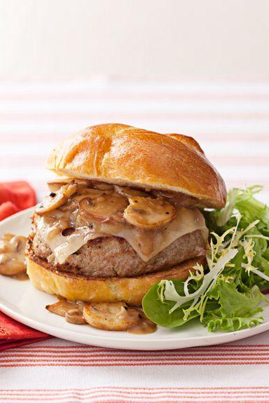 smothered swiss turkey burger