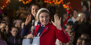 MANCHESTER, NH - JANUARY 08:  Screenwriter and actress Lena Dunham speaks to a crowd at a Hillary Clinton for President event on January 8, 2016 in Manchester, New Hampshire. Dunham highlighted Democratic presidential candidate Hillary Clinton's commitment to standing up for women and girls.